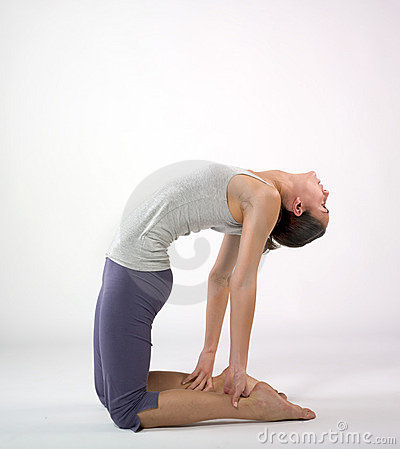 Woman streching