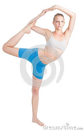 Woman stretching doing yoga