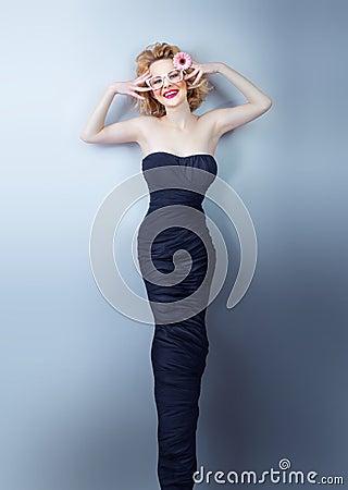 Woman, studio shot