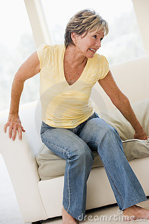 Woman Suffering With Back Pain