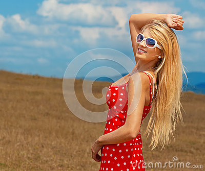 Woman in a summer day