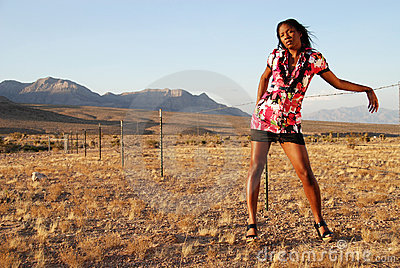 Woman in summer fashion.