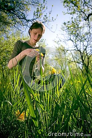 Woman in Summer Grass