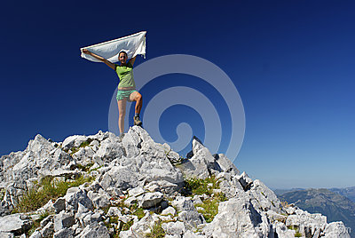 Woman on summit