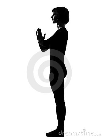 Woman sun salutation yoga surya namaskar pose