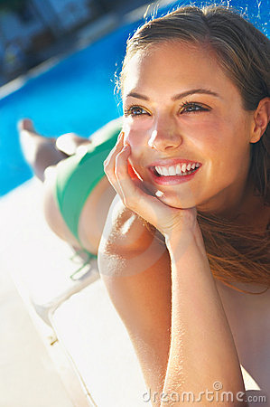 Woman Sunbathing  Stock Image - Image: 3036551