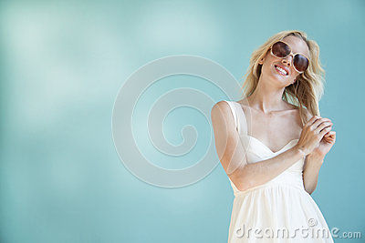 Woman In Sunglasses Stock Images - Image: 26064294