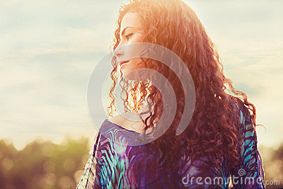 Woman Sunlight Portrait Stock Photography - Image: 25493672