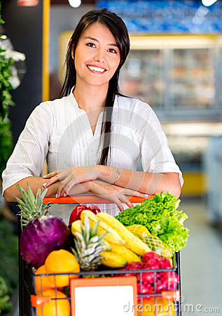 Woman at the supermarket