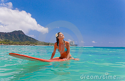 woman surfboard