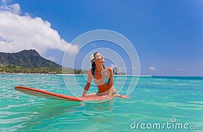 woman surfboard