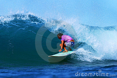 Woman Surfing Champion Joy Monahan Editorial Photo