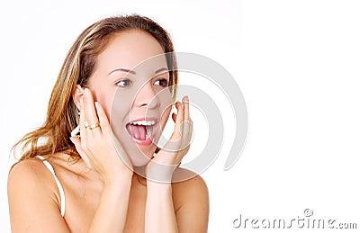 Woman surprise