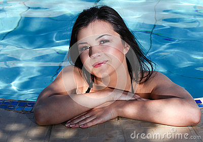 Woman in swimming pool