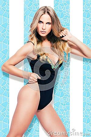Woman in swimmsuit