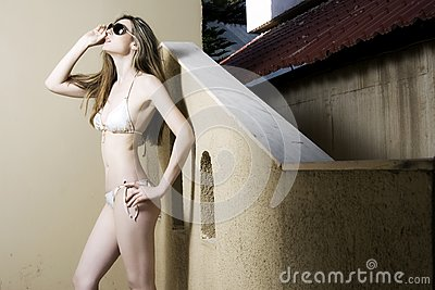 Woman with swimsuit