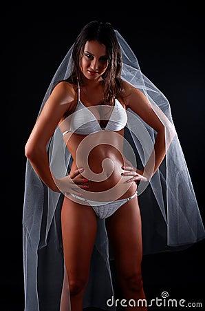 Woman in swimwear
