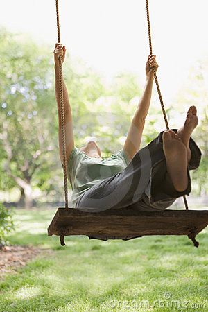 Free Woman Swinging On Swing Royalty Free Stock Photography - 14646587