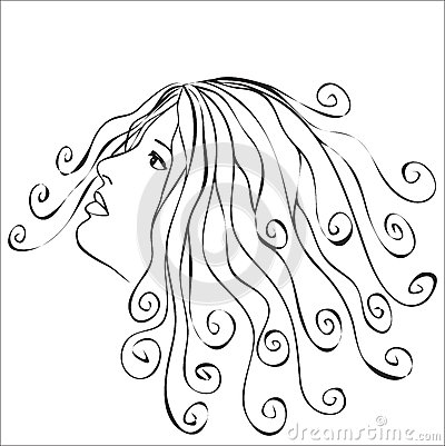 Woman with swirls hair