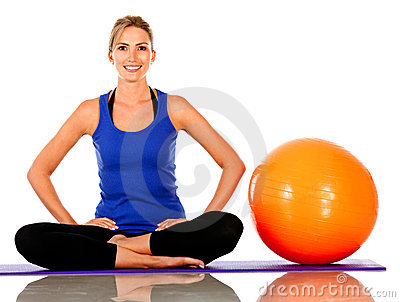 Woman with Swiss ball