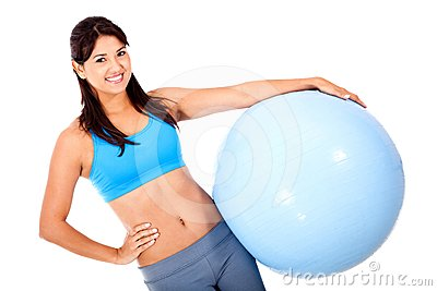 Woman with a Swiss ball