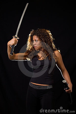 Woman with a sword