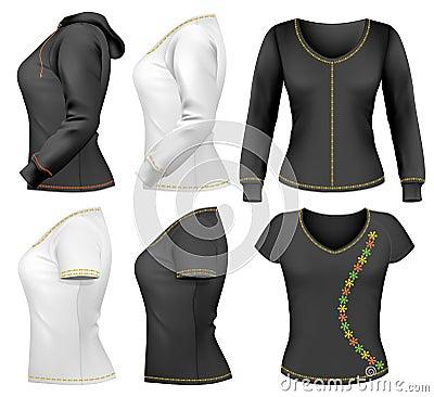 Woman t-shirt design template