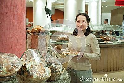 Woman takes fresh batch