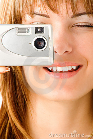 Free Woman Taking Digital Picture Stock Photo - 2660930
