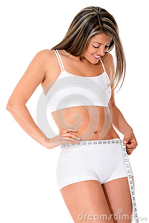 Woman taking measurements
