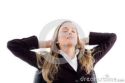 Woman taking rest