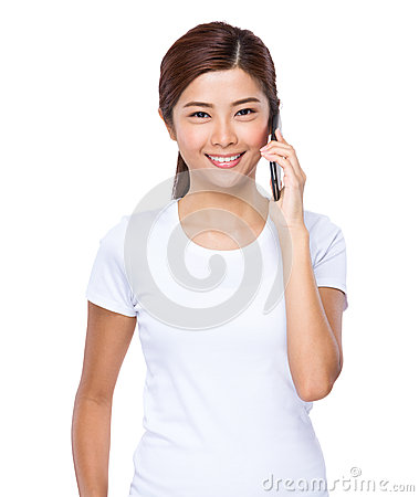 Free Woman Talk To Cell Phone Stock Image - 45547181