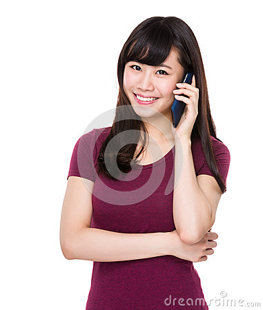 Free Woman Talk To Mobile Phone Stock Photography - 50814822