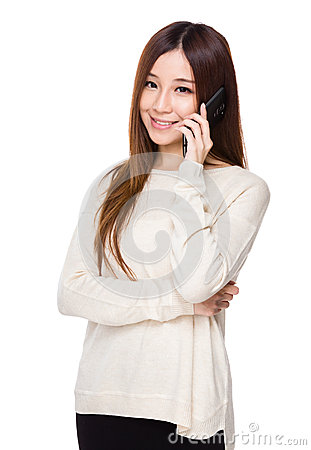 Free Woman Talk To Phone Royalty Free Stock Images - 47355739