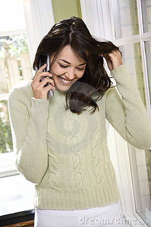 Free Woman Talking On Cell Phone. Royalty Free Stock Photos - 2044188