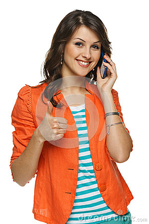 Free Woman Talking On Cellphone Royalty Free Stock Photography - 28971077