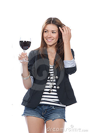 Woman Tasting sampling red wine