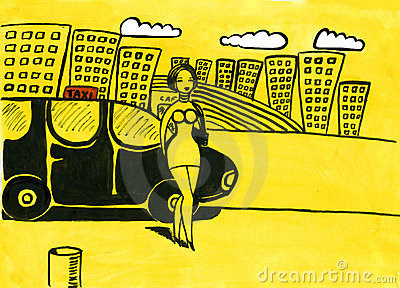 Woman taxi driver