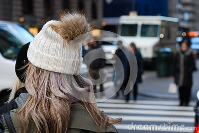 Woman In Tea Cozy Hat Chatting Free Public Domain Cc0 Image