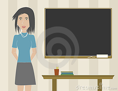 Woman Teacher in a Classroom