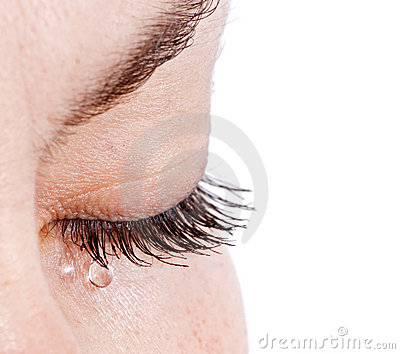 Woman in tears
