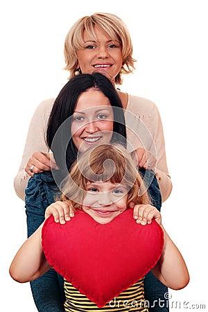 Woman teenage and little girl