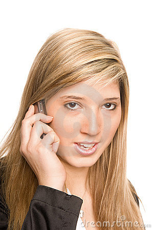 Woman telephone