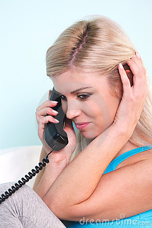 Woman on the telephone