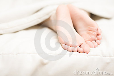 Woman tender foots