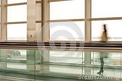Woman in terminal
