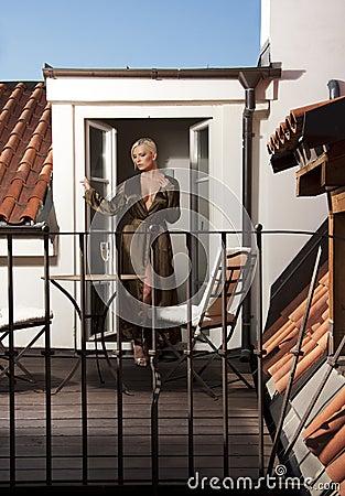 Woman on terrace
