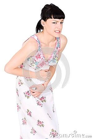 Woman in terrible pain