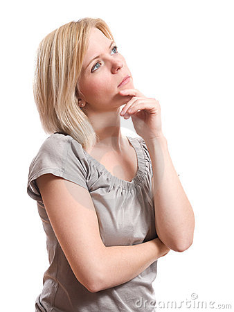 Free Woman Thinking Stock Photography - 16946612