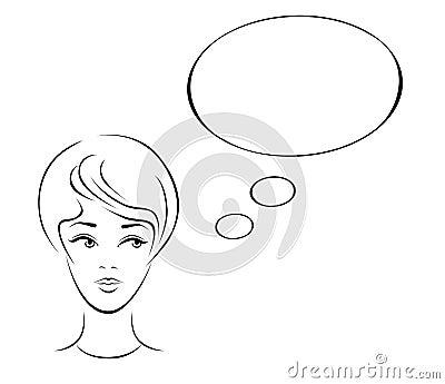 Woman thinking.